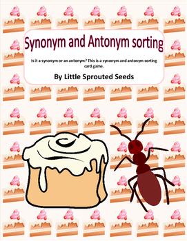 Synonym and Antonym Sort, Grammar