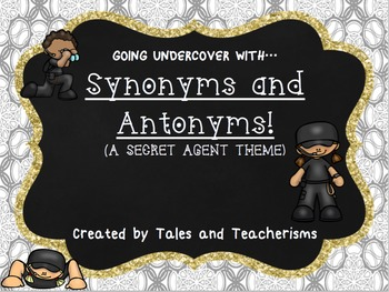 Synonym and Antonym Word Work for Teaching or Review Centers