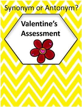 Synonym or Antonym? - Valentine's Assessment