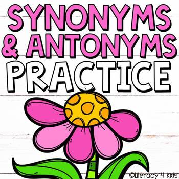 Synonyms and Antonyms No Prep Printables for Grades 2 and 3