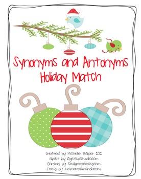 Synonyms & Antonyms Holiday Match
