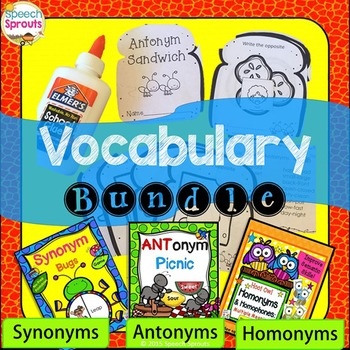Synonyms Antonyms and Homonyms Speech and Language Bundle