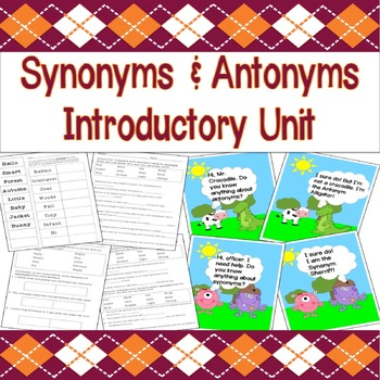 Synonyms & Antonyms Introductory Unit (Presentations, Less