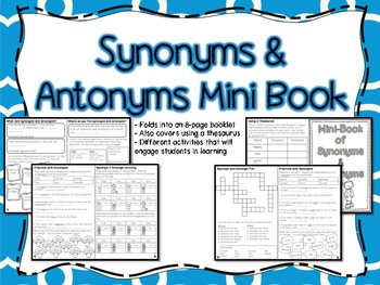 Synonyms & Antonyms Mini Book