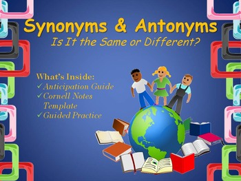 Synonyms & Antonyms Power Point Presentation