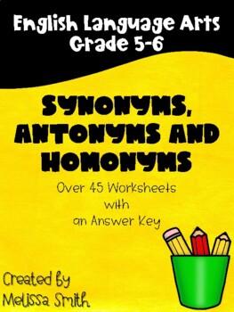 Synonyms, Antonyms, and Homonyms