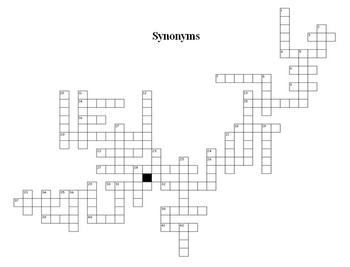 Synonyms - Basic Elementary Cross Word Puzzle
