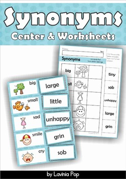 Synonyms Center and Worksheets