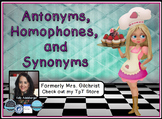 Synonyms , Homophones, and Antonyms Promethean ActivInspir