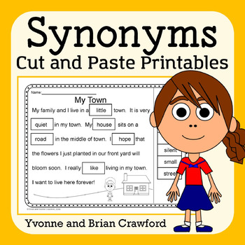 Synonyms Cut and Paste Printables