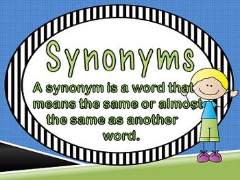 Synonyms Power Point, activities,  and Printables