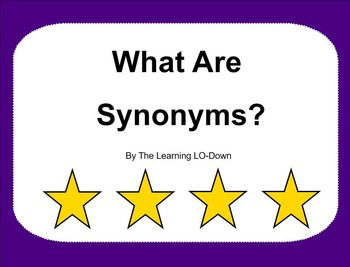 Synonyms: Smartboard Lesson