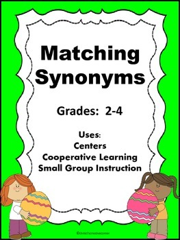 Synonyms:  Springtime Matching Game