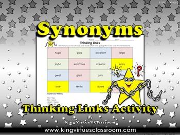 Synonyms Thinking Links Activity #1 Big, Good, Happy, Like