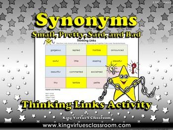 Synonyms Thinking Links Activity #2 Small, Said, Pretty, B
