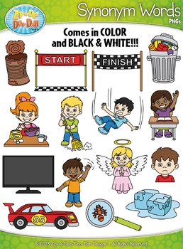 Synonyms Word Clipart Set 2 — Includes 30 Graphics!