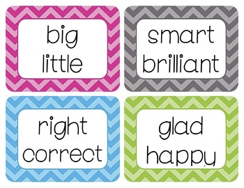 Synonyms Word Wall Cards