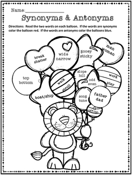 FREE:  Synonyms and Antonyms