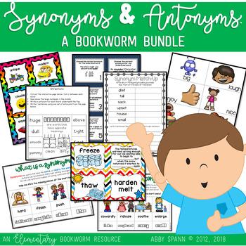 Synonyms and Antonyms: A Bookworm MEGA Bundle