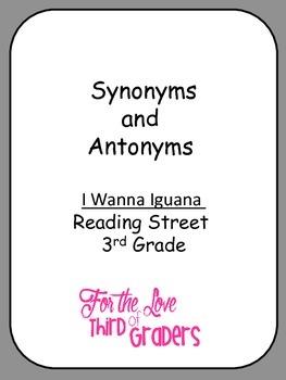 Synonyms and Antonyms I Wanna Iguana Unit 2 Reading Street