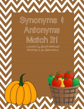 Synonyms and Antonyms: Match It