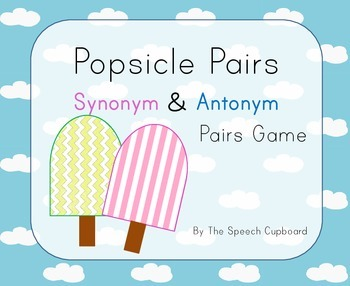 Synonyms and Antonyms - Pairs Game