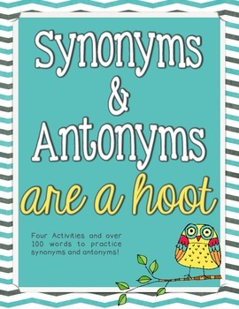 Synonyms and Antonyms are a Hoot ~ Center Activities