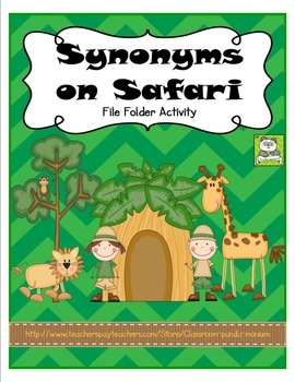 Synonyms on Safari File Folder Activity (CC Aligned)