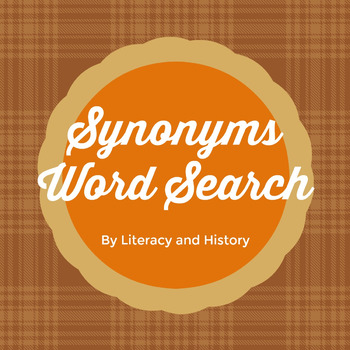 Synonyms wordsearch