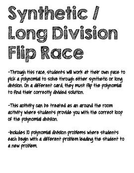 Synthetic / Long Division Flip [Polynomial Division]