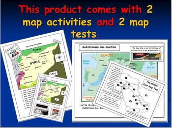 Syria: Five Map Activities and Worksheet on DAESH