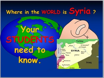 Syria:Three Map Activities and Worksheet on DAESH