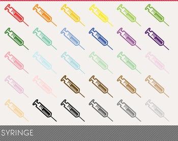 Syringe Digital Clipart, Syringe Graphics, Syringe PNG