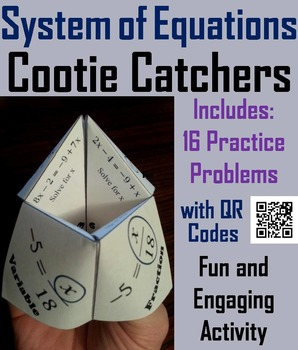 Solving Systems of Equations Practice Activity Game for 7t