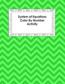 System of Equations Color By Number