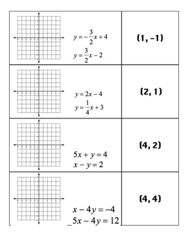 System of Equations Match Game
