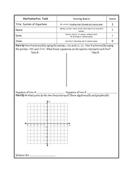 System of Equations Task Handout