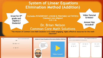 System of LInear Equations (Addition Method) - PowerPoint