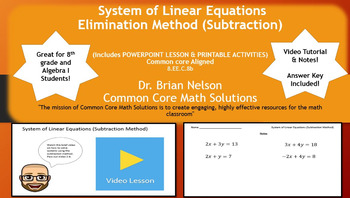 System of Linear Equations (Subtraction Method) - PowerPoi