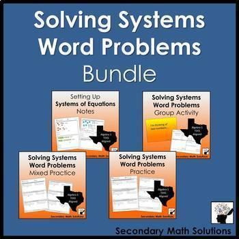 Systems Word Problems Mini-Bundle