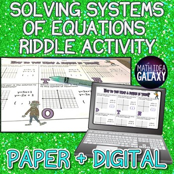 Solving Systems of Equations with Graphing Riddle