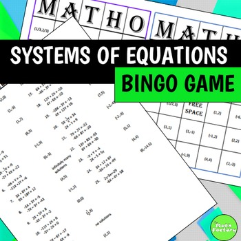 Systems of Equations BINGO Game