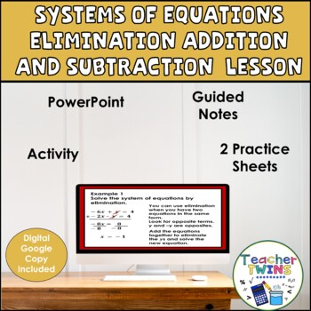 Systems of Equations Elimination + - Algebra Lesson