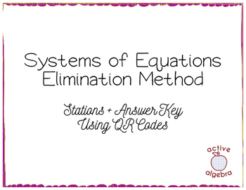 Systems of Equations Elimination Method Stations with QR C