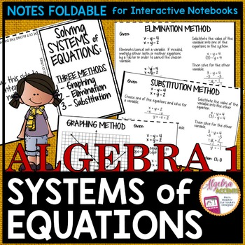 Solving Systems of Equations Notes Foldable