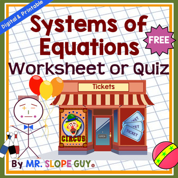 Systems of Equations Introduction Assessment Common Core 8