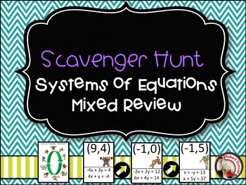 Systems of Equations- Mixed Review