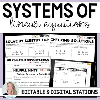 Systems of Equations Math Stations
