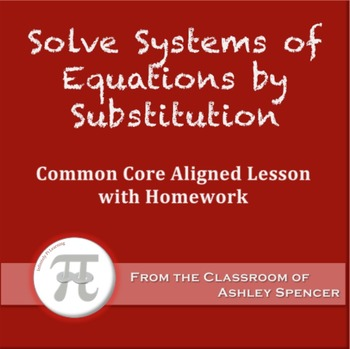 Solve Systems of Equations by Substitution (Lesson Plan wi