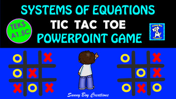 Systems of Equations Tic Tac Toe Powerpoint Game